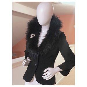 Jackets & Blazers - Bentley Arbuckle Faux Fur Collar Blazer